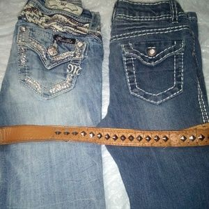 Girl's jeans and belt